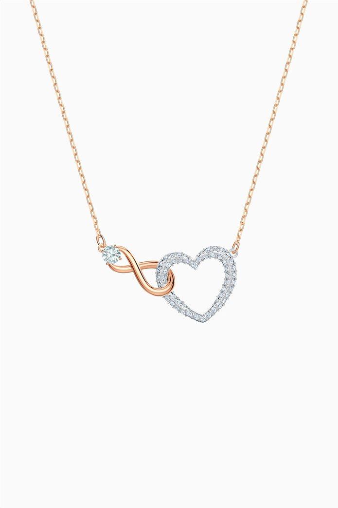 Swarovski Infinity Heart Necklace, White, Mixed metal finish Λευκό 0
