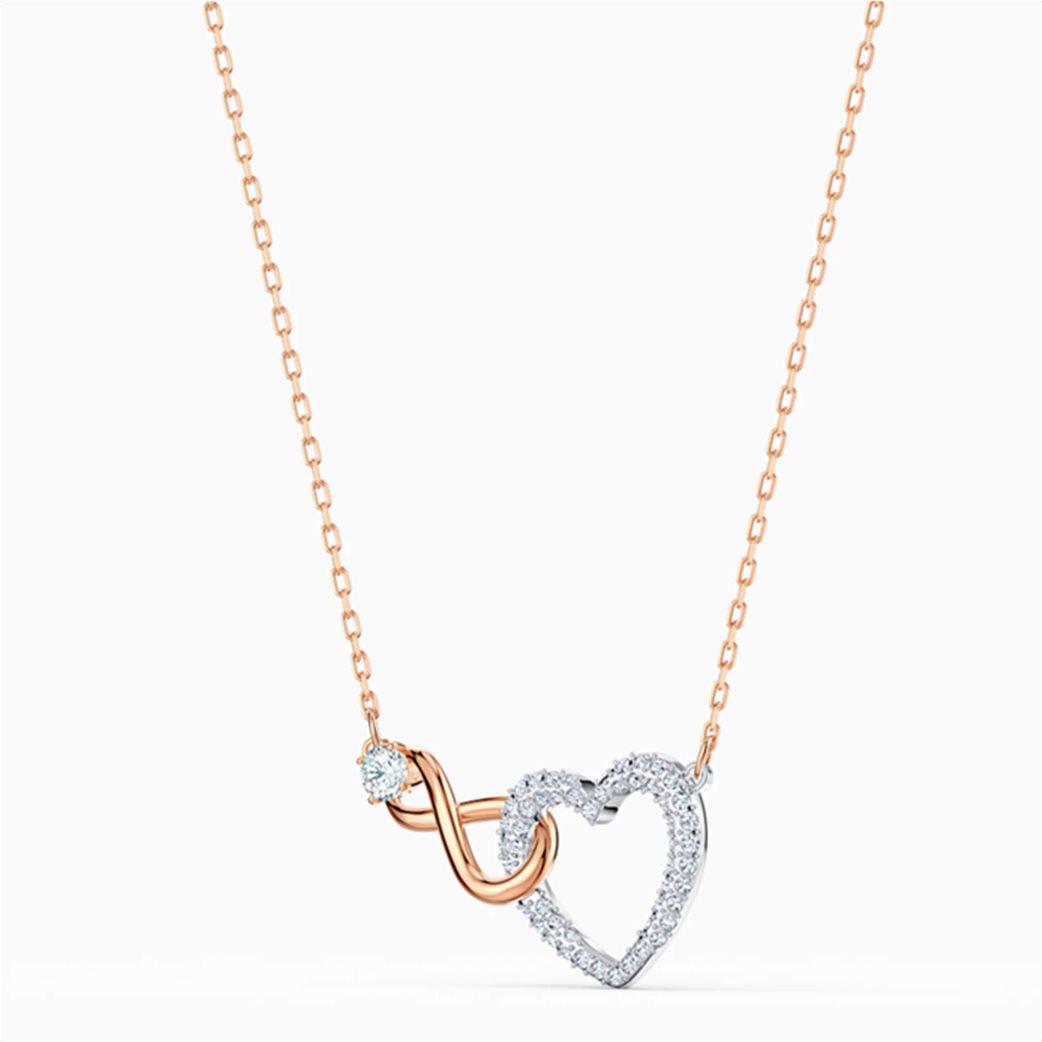 Swarovski Infinity Heart Necklace, White, Mixed metal finish Λευκό 3