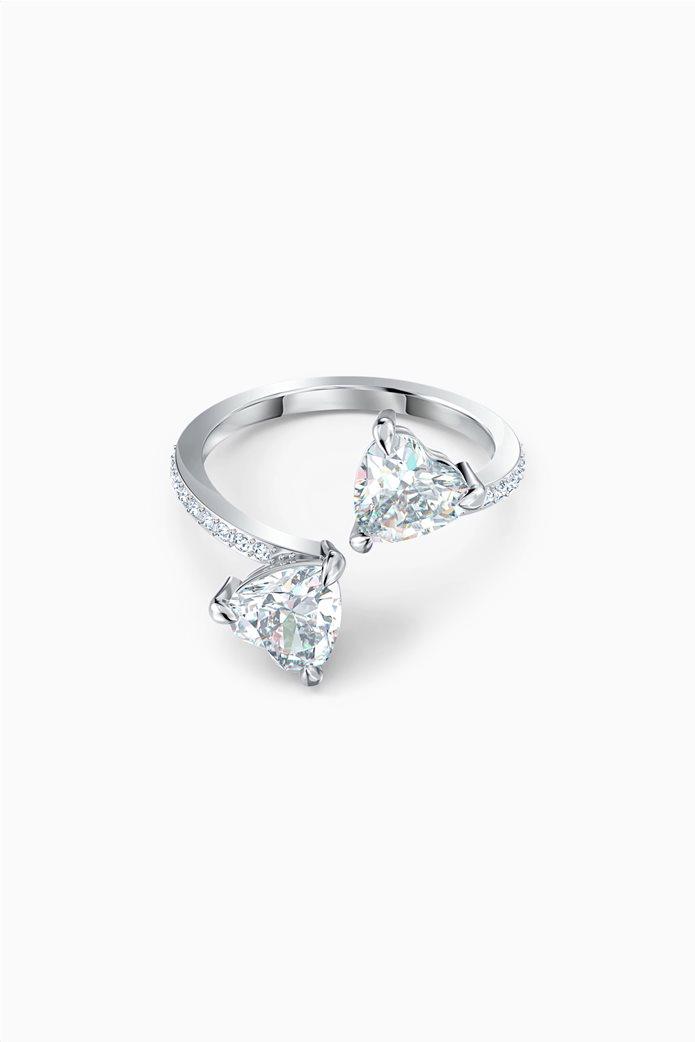 Swarovski Attract Soul Heart Ring, White, Rhodium plated Λευκό 0