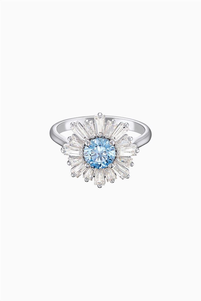Swarovski Sunshine Ring, Blue, Rhodium plated Μπλε 0