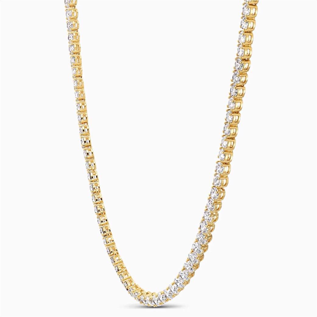 Swarovski  Tennis Deluxe Necklace, White, Gold-tone plated Λευκό 2