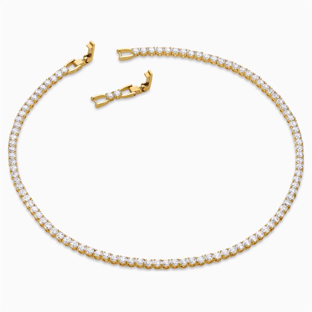 Swarovski  Tennis Deluxe Necklace, White, Gold-tone plated Λευκό 3