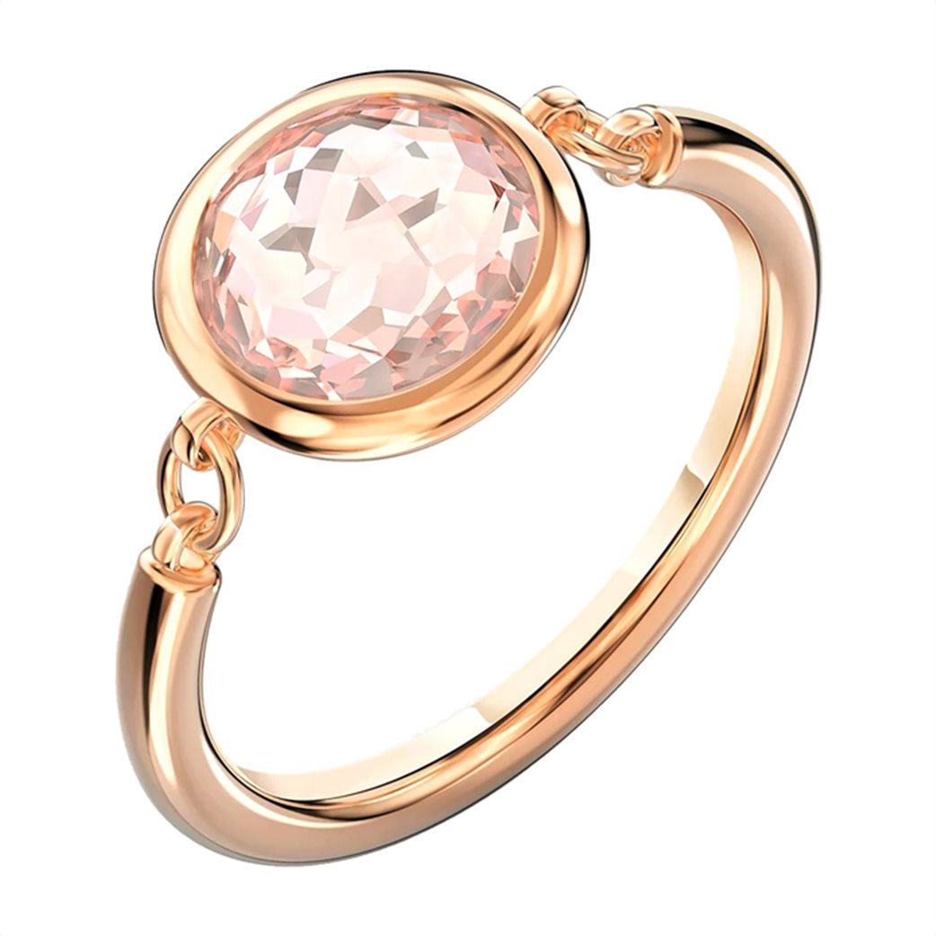 Swarovski Tahlia Ring, Pink, Rose-gold tone plated 2