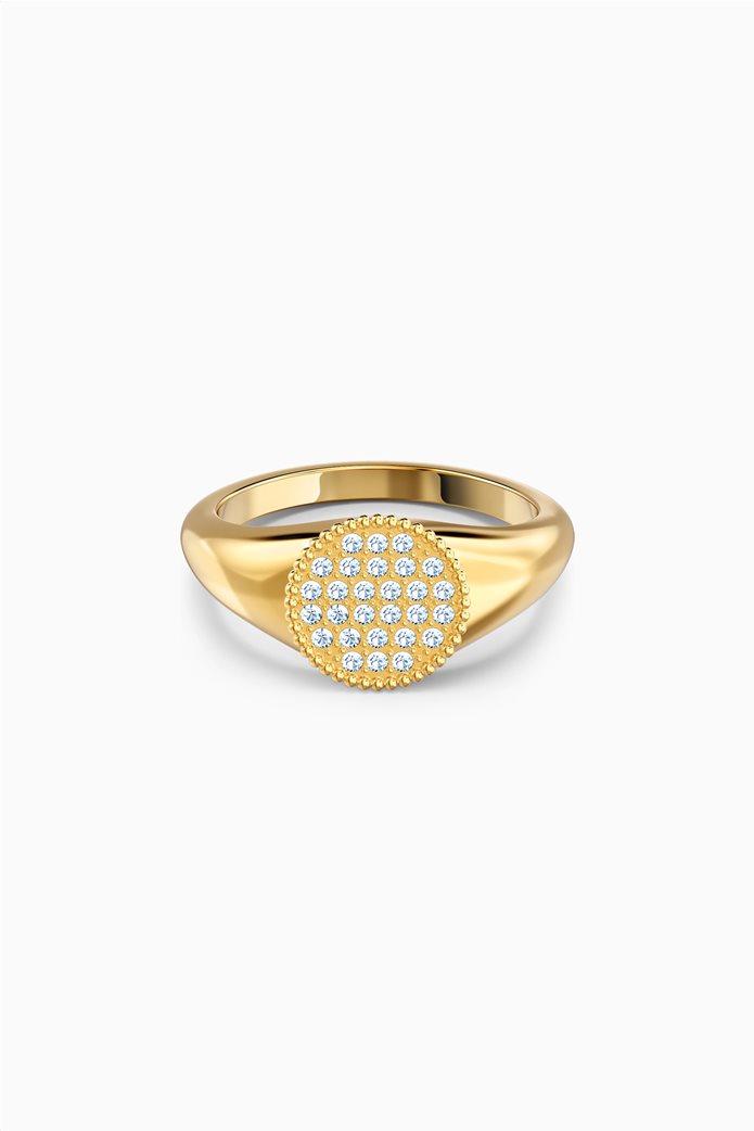 Swarovski Ginger Signet Ring, White, Gold-tone plated 0