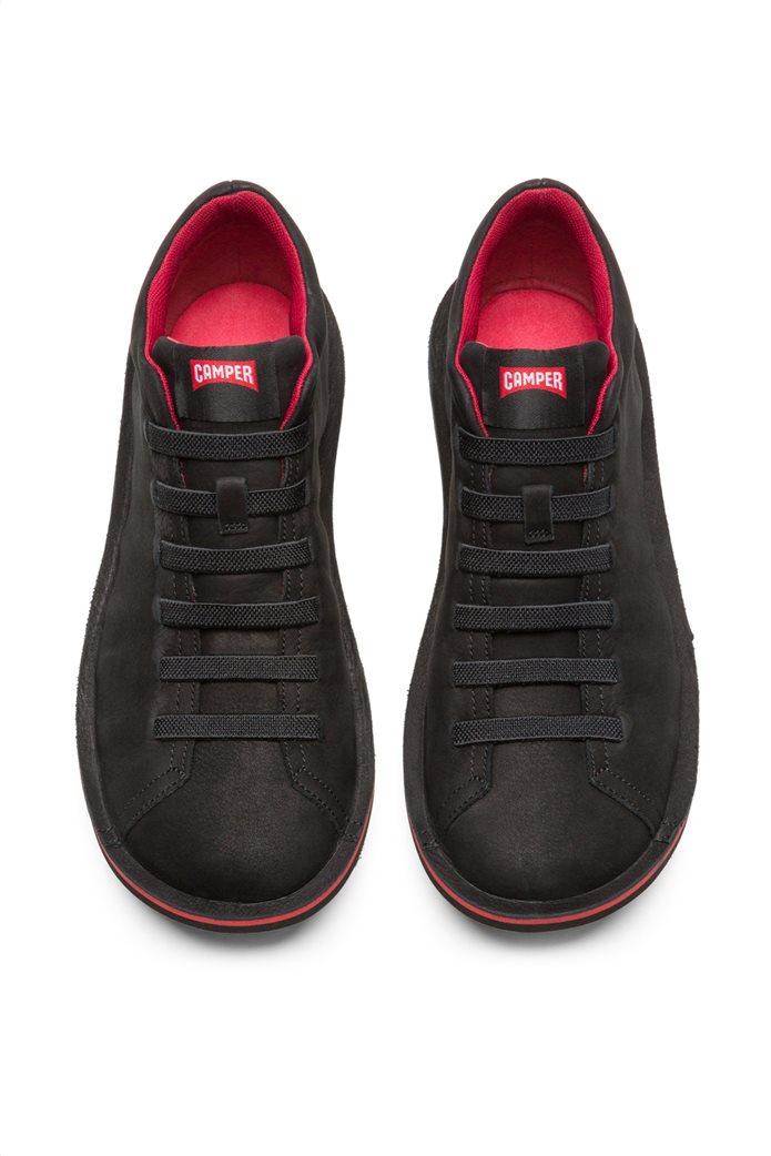 Camper ανδρικά παπούτσια μαύρα σουέτ Beetle 2