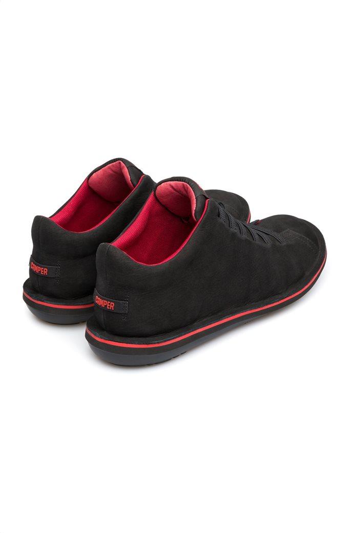 Camper ανδρικά παπούτσια μαύρα σουέτ Beetle 3