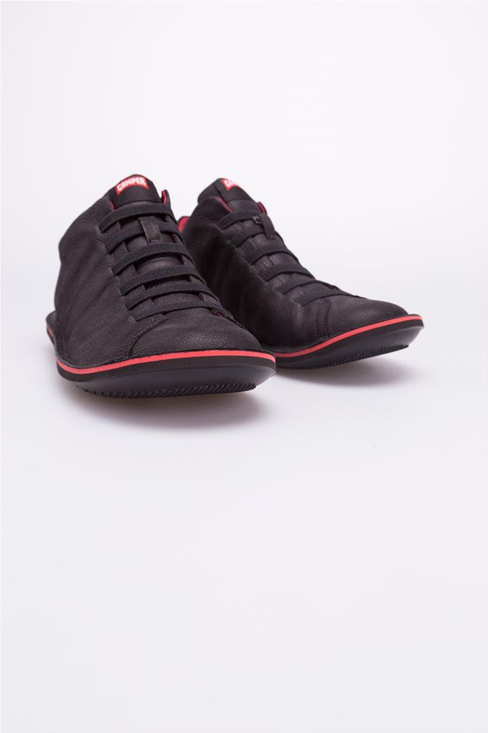 Camper ανδρικά παπούτσια μαύρα σουέτ Beetle 5