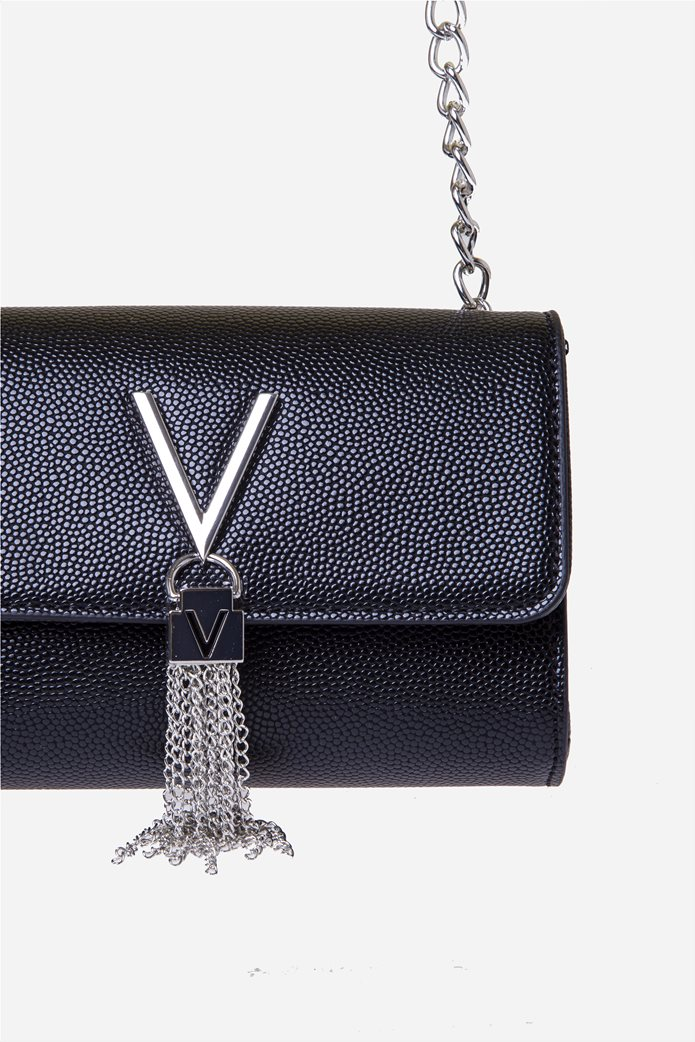 Valentino by Mario Valentino γυναικεία τσάντα ώμου με μεταλλικό logo και αλυσίδα 1