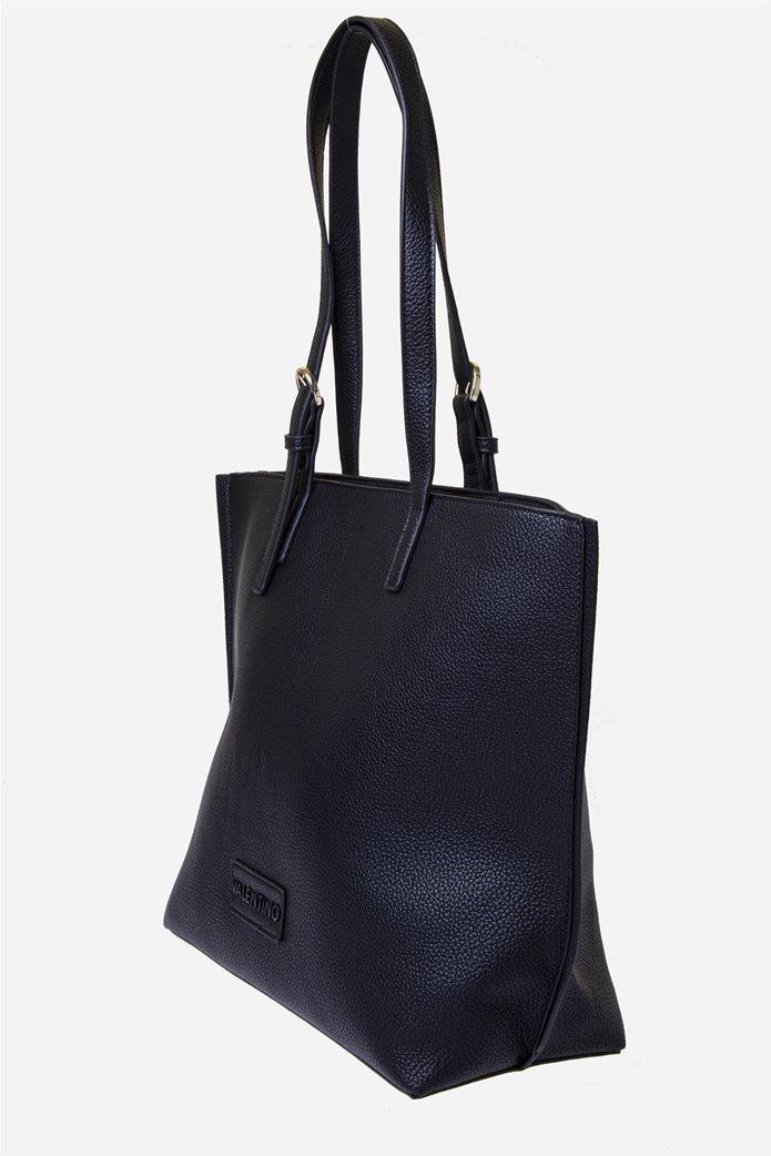 Valentino by Mario Valentino γυναικεία τσάντα ώμου με logo patch 1