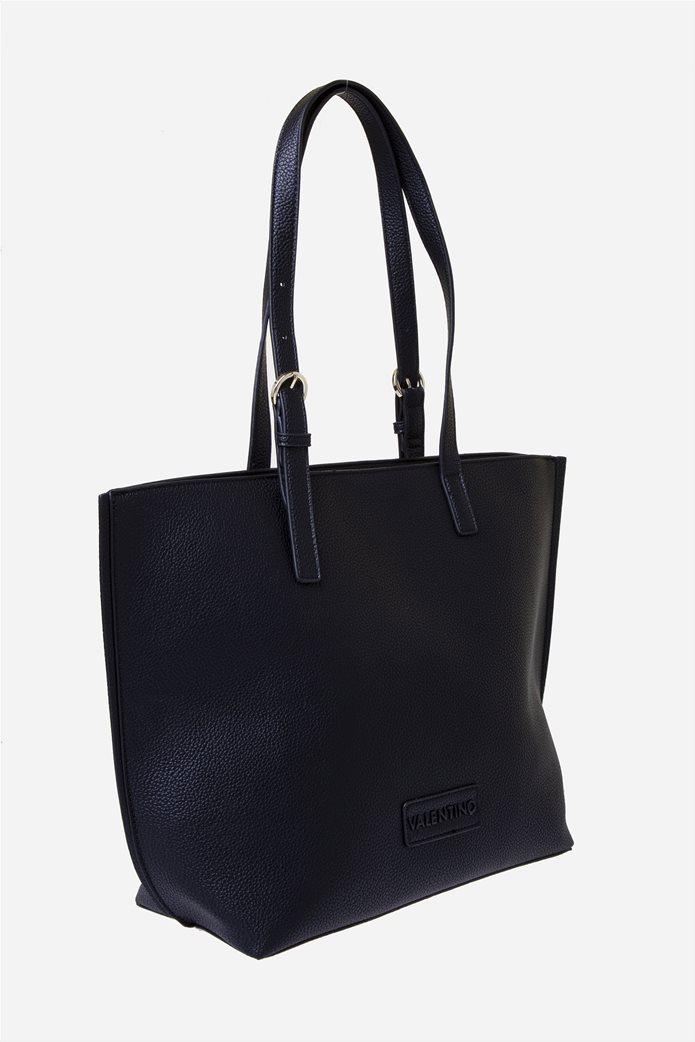 Valentino by Mario Valentino γυναικεία τσάντα ώμου με logo patch 2