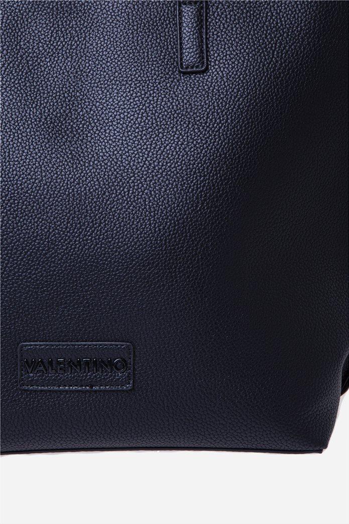 Valentino by Mario Valentino γυναικεία τσάντα ώμου με logo patch 4