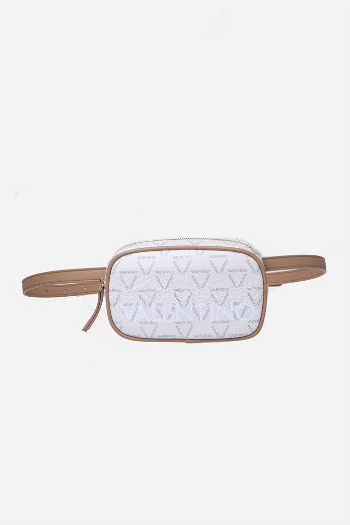 Valentino by Mario Valentino γυναικείο τσαντάκι μέσης με all-over logo print 0