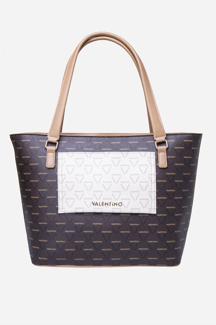 Valentino by Mario Valentino γυναικεία τσάντα χειρός με all-over print 0
