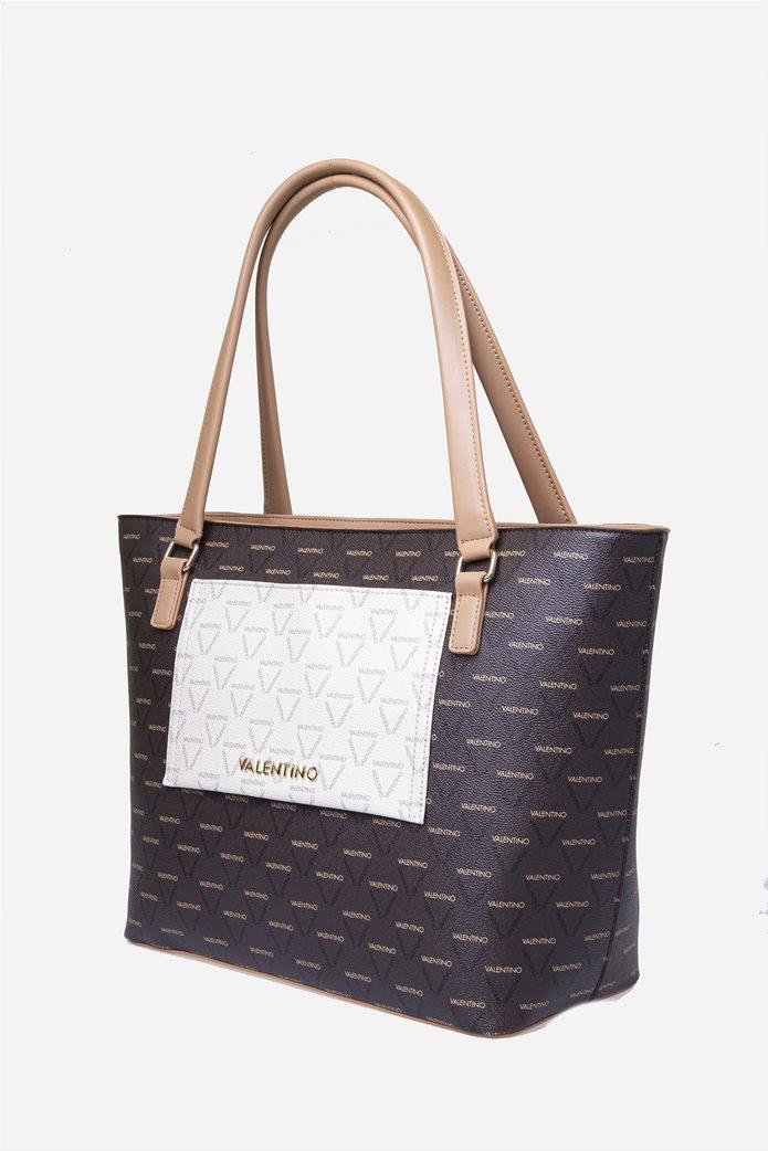 Valentino by Mario Valentino γυναικεία τσάντα χειρός με all-over print 1