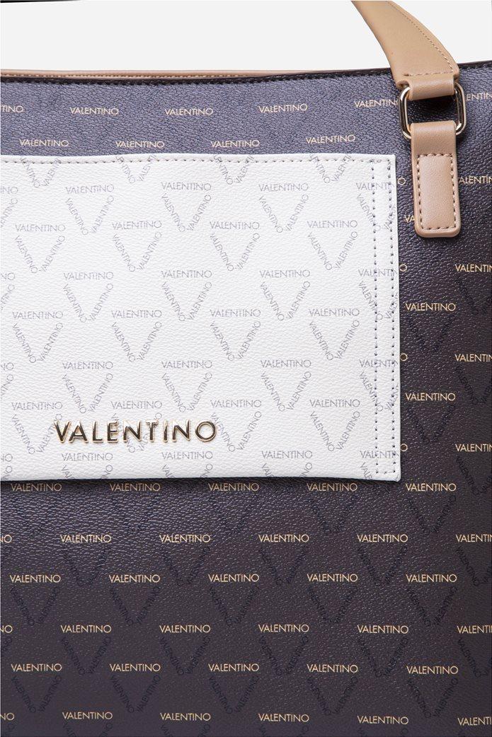 Valentino by Mario Valentino γυναικεία τσάντα χειρός με all-over print 3