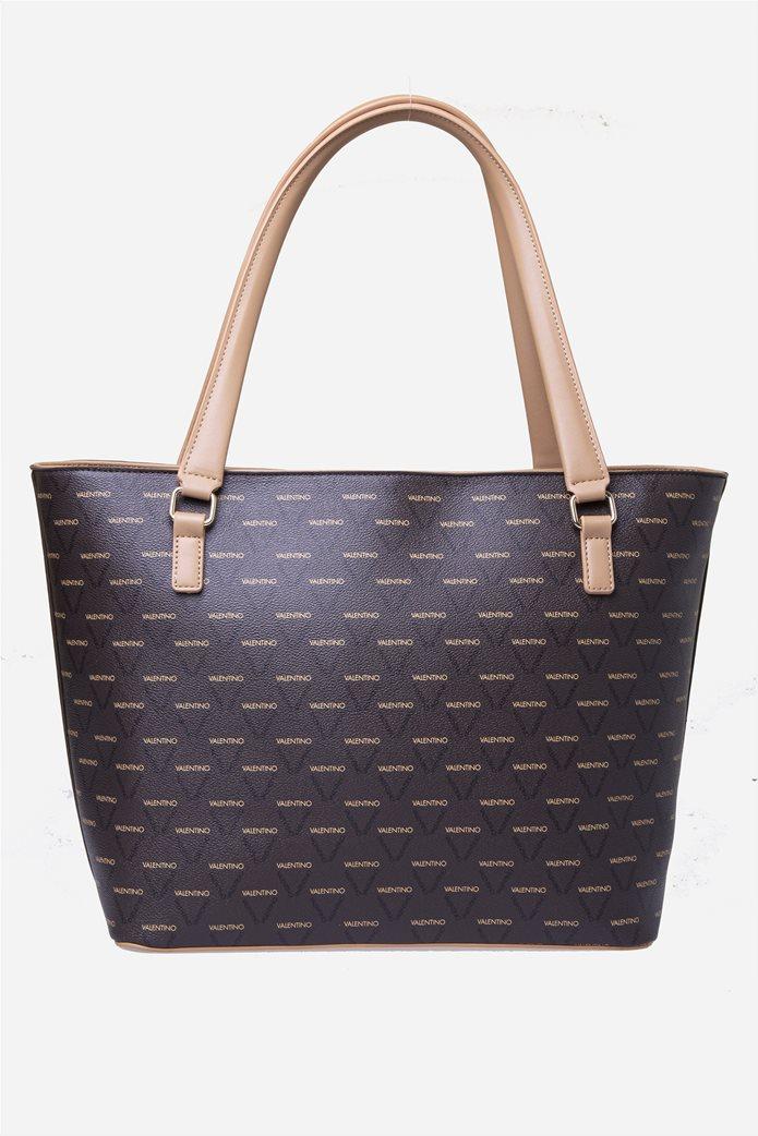 Valentino by Mario Valentino γυναικεία τσάντα χειρός με all-over print 4
