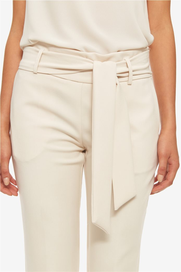 Lucifair γυναικείο μονόχρωμο παντελόνι σε ίσια γραμμή με αφαιρούμενη ζώνη 3