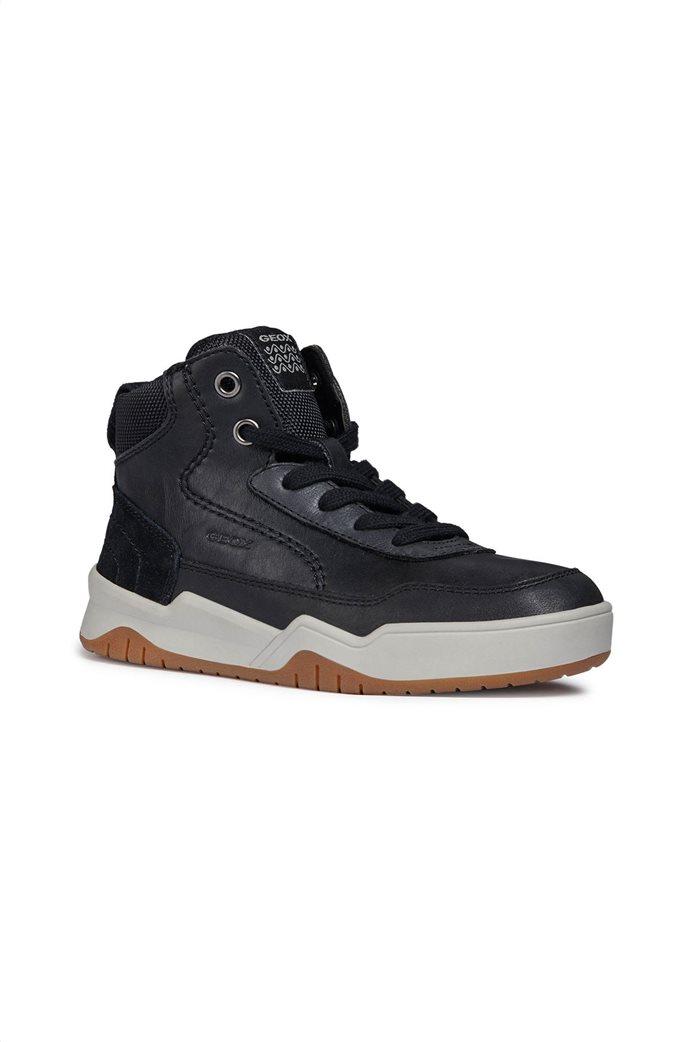 c5c579bede9 GEOX   Geox παιδικά μποτάκια sneakers JR Perth Μαύρο   notos