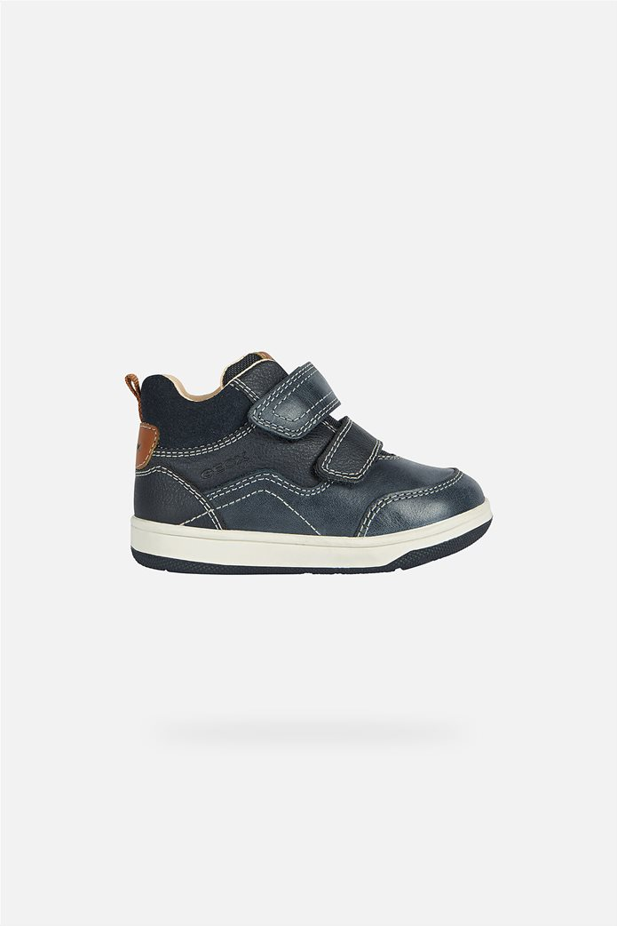 Geox παιδικά sneakers με suede λεπτομέρεια Μπλε Σκούρο 0