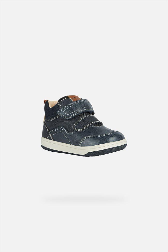 Geox βρεφικά sneakers με suede λεπτομέρεια Μπλε Σκούρο 0