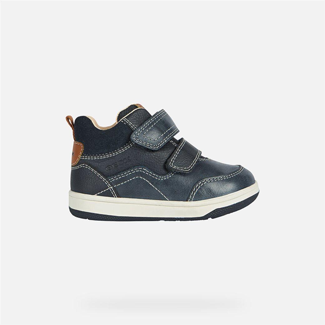 Geox βρεφικά sneakers με suede λεπτομέρεια Μπλε Σκούρο 1