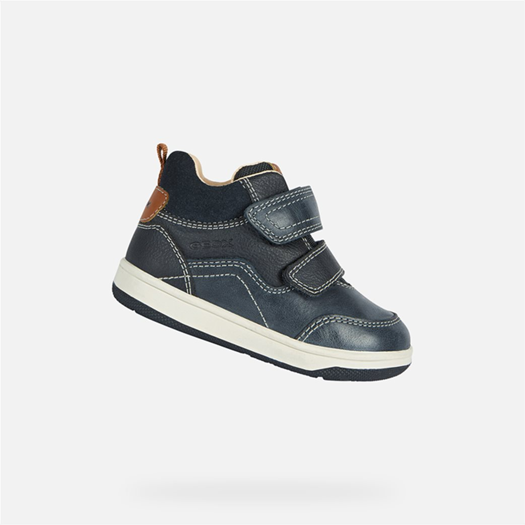 Geox βρεφικά sneakers με suede λεπτομέρεια Μπλε Σκούρο 2