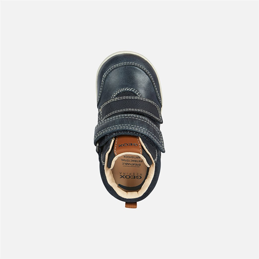 Geox βρεφικά sneakers με suede λεπτομέρεια Μπλε Σκούρο 3