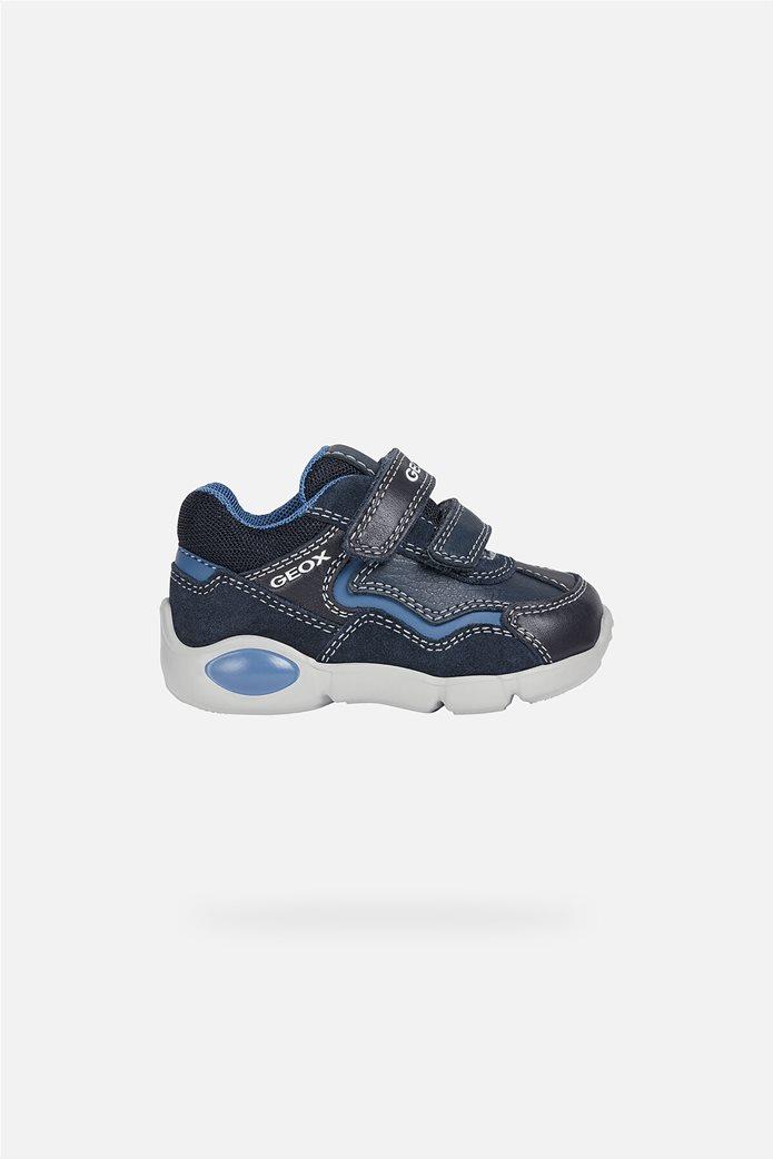 "Geox βρεφικά παπούτσια με διπλό velcro ""Pillow"" Μπλε Σκούρο 0"
