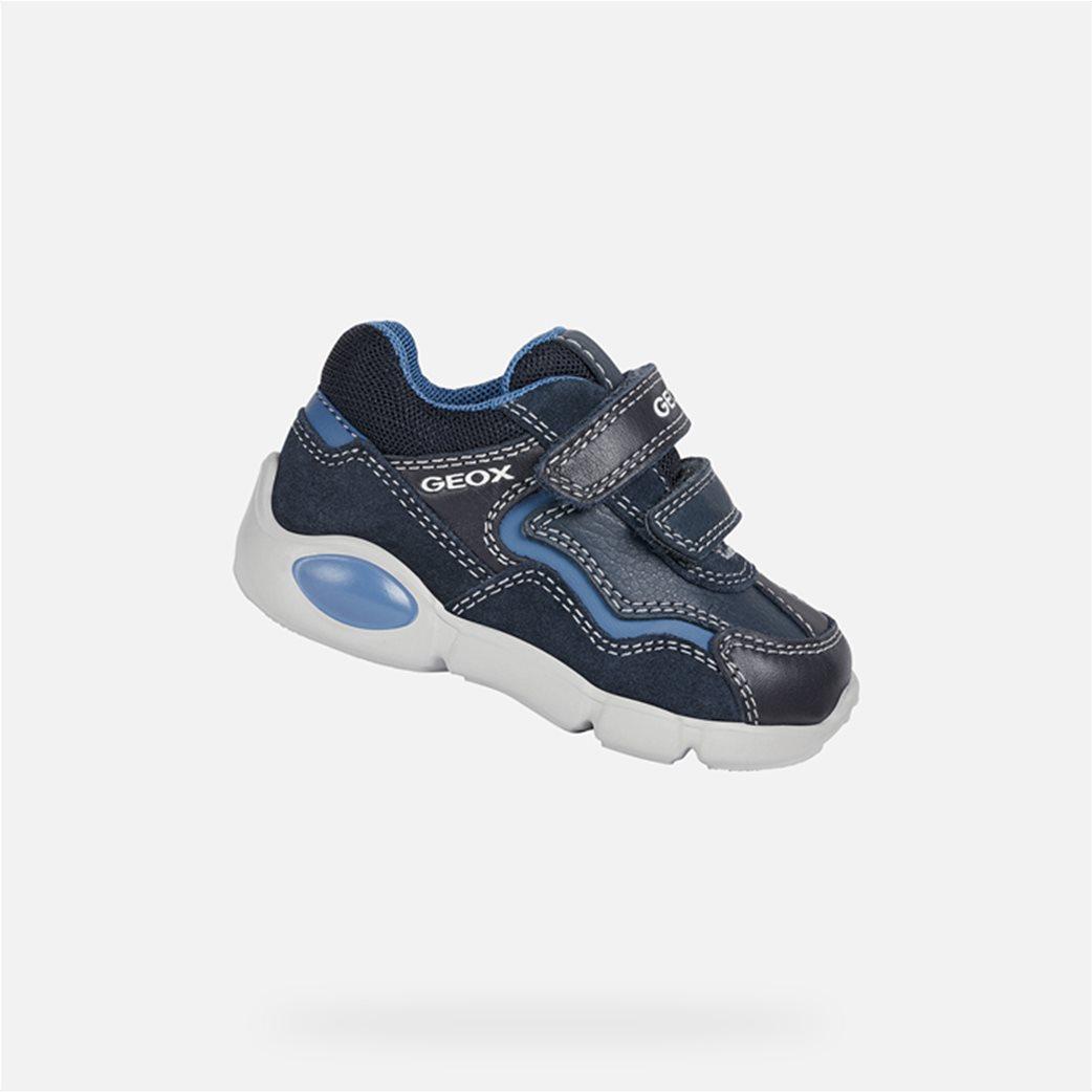 "Geox βρεφικά παπούτσια με διπλό velcro ""Pillow"" Μπλε Σκούρο 1"