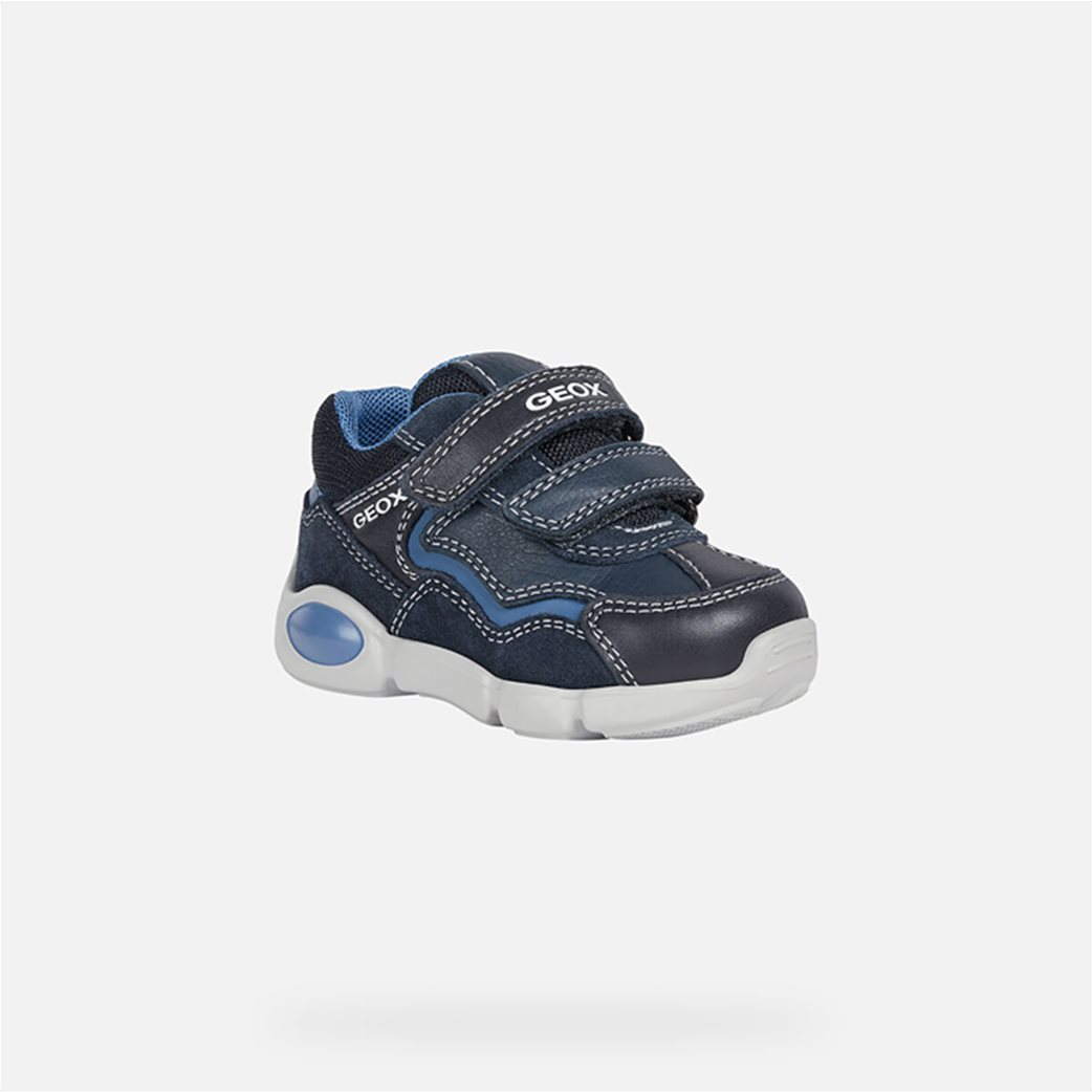 "Geox βρεφικά παπούτσια με διπλό velcro ""Pillow"" Μπλε Σκούρο 2"