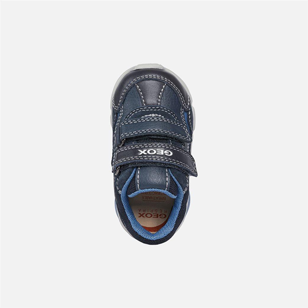 "Geox βρεφικά παπούτσια με διπλό velcro ""Pillow"" Μπλε Σκούρο 3"