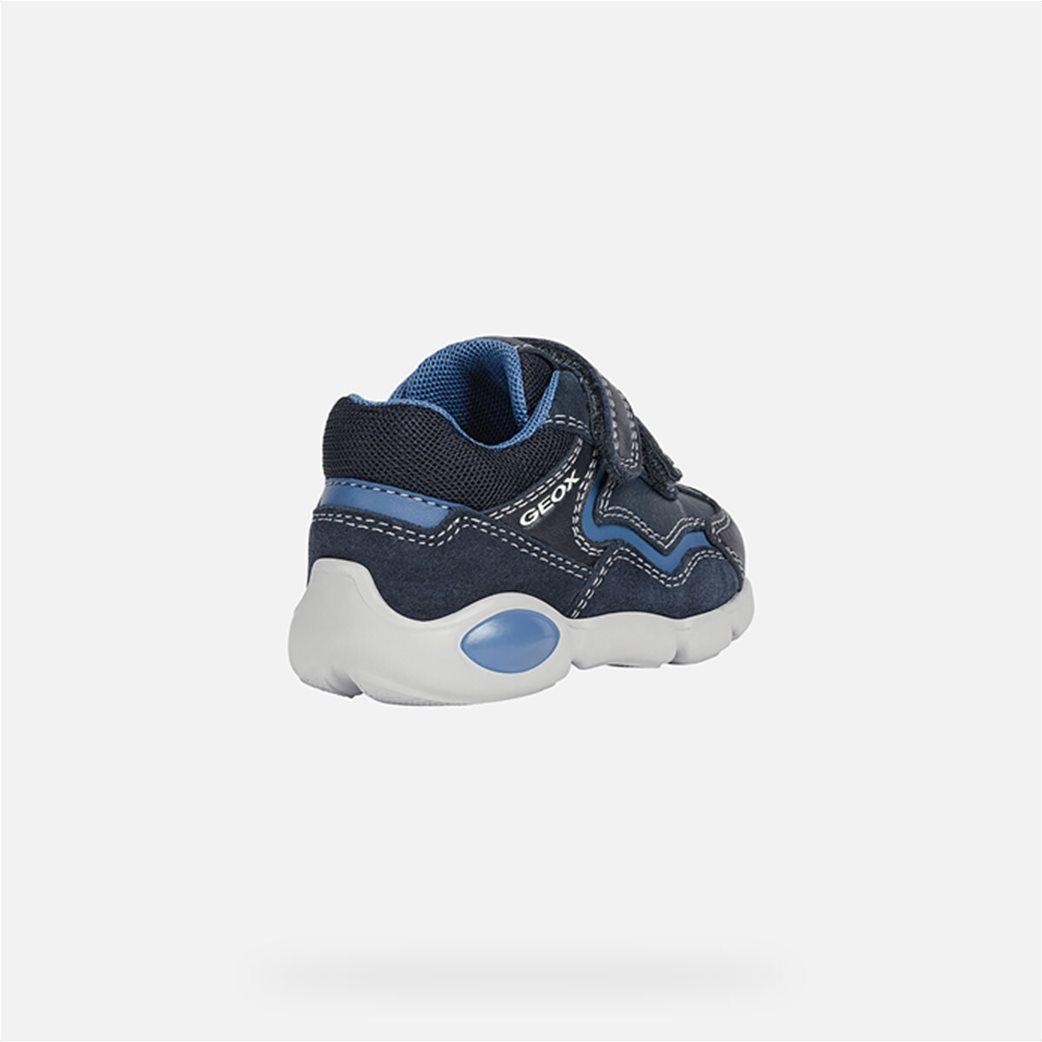 "Geox βρεφικά παπούτσια με διπλό velcro ""Pillow"" Μπλε Σκούρο 4"