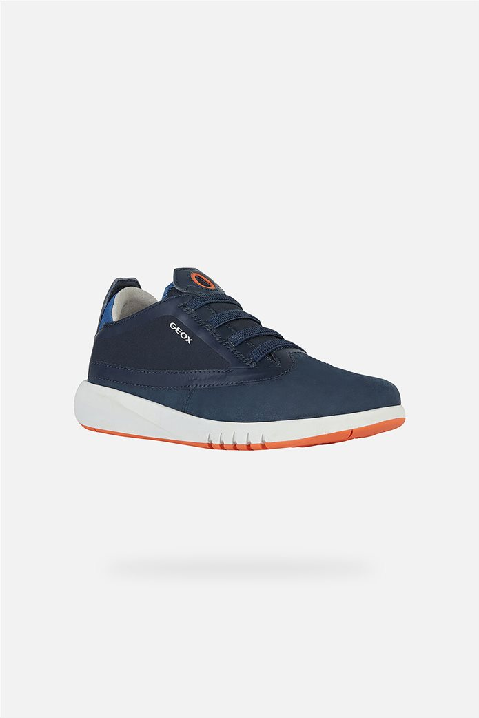 "Geox παιδικά suede sneakers με logo print ""Aeranter"" 0"