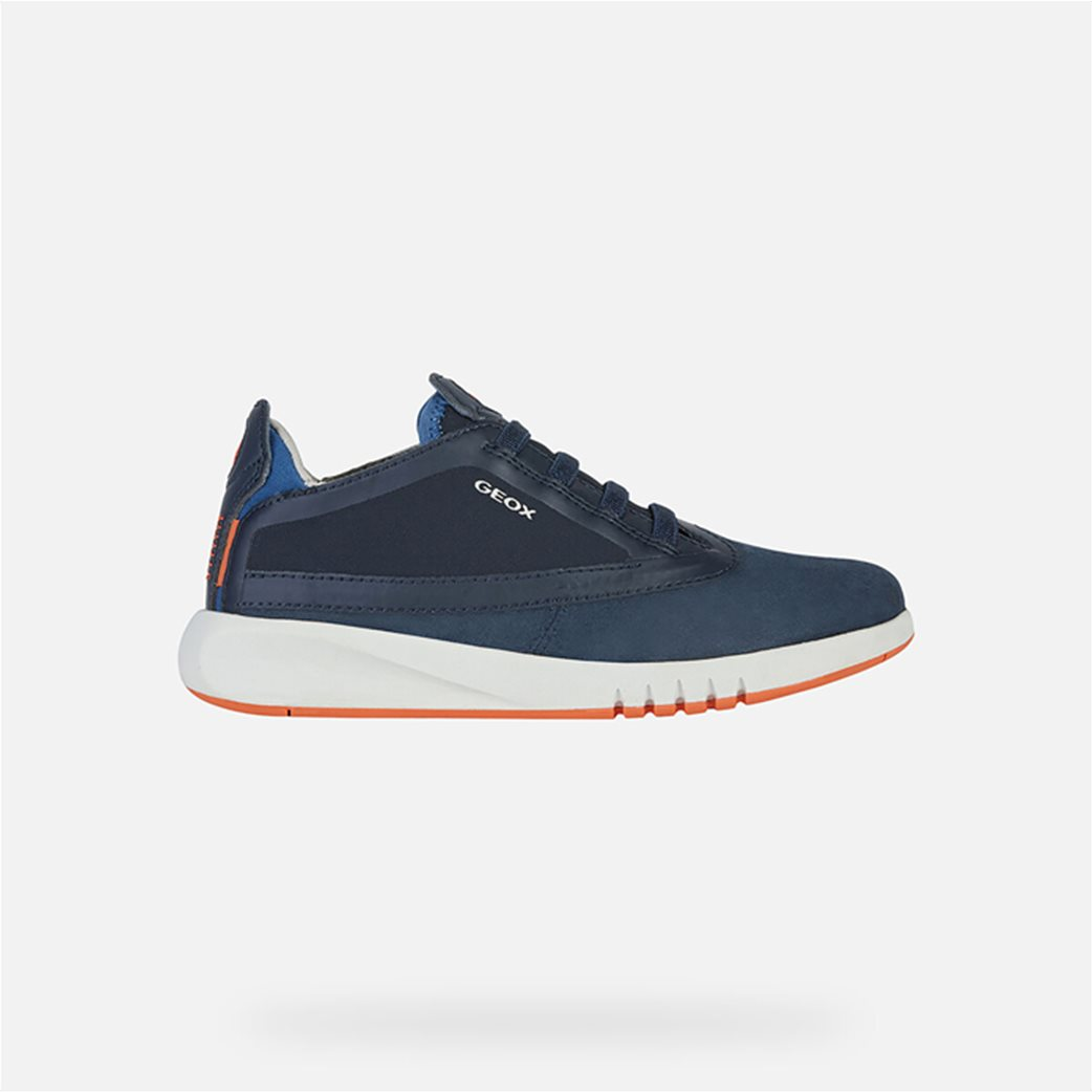 "Geox παιδικά suede sneakers με logo print ""Aeranter"" 1"