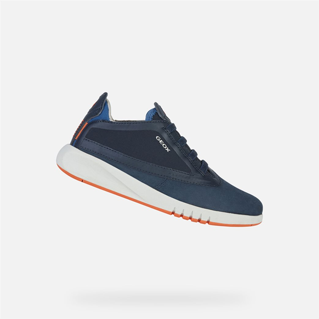 "Geox παιδικά suede sneakers με logo print ""Aeranter"" 2"