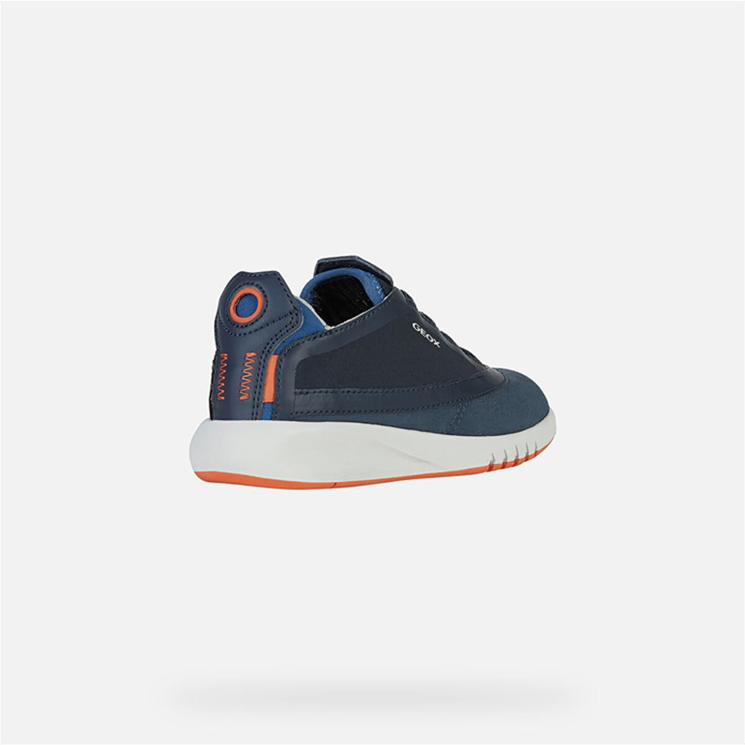 "Geox παιδικά suede sneakers με logo print ""Aeranter"" 4"