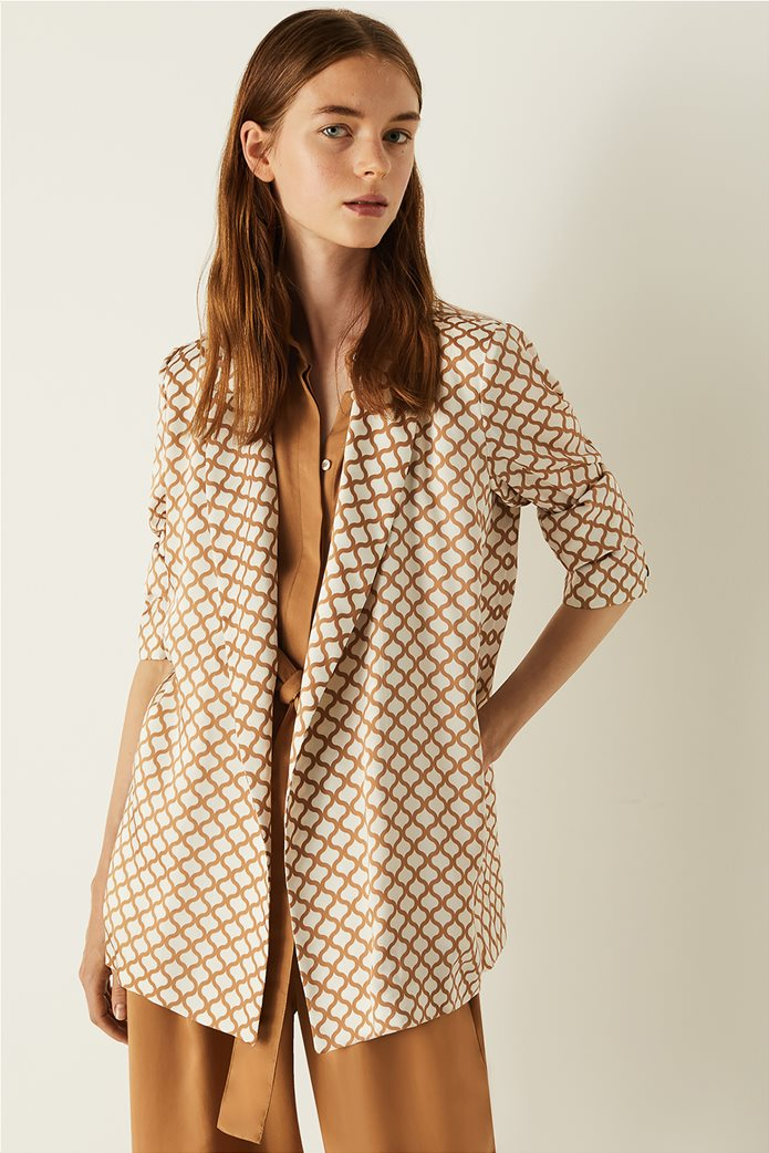 Emme by Marella γυναικείο σακάκι με all-over print 0