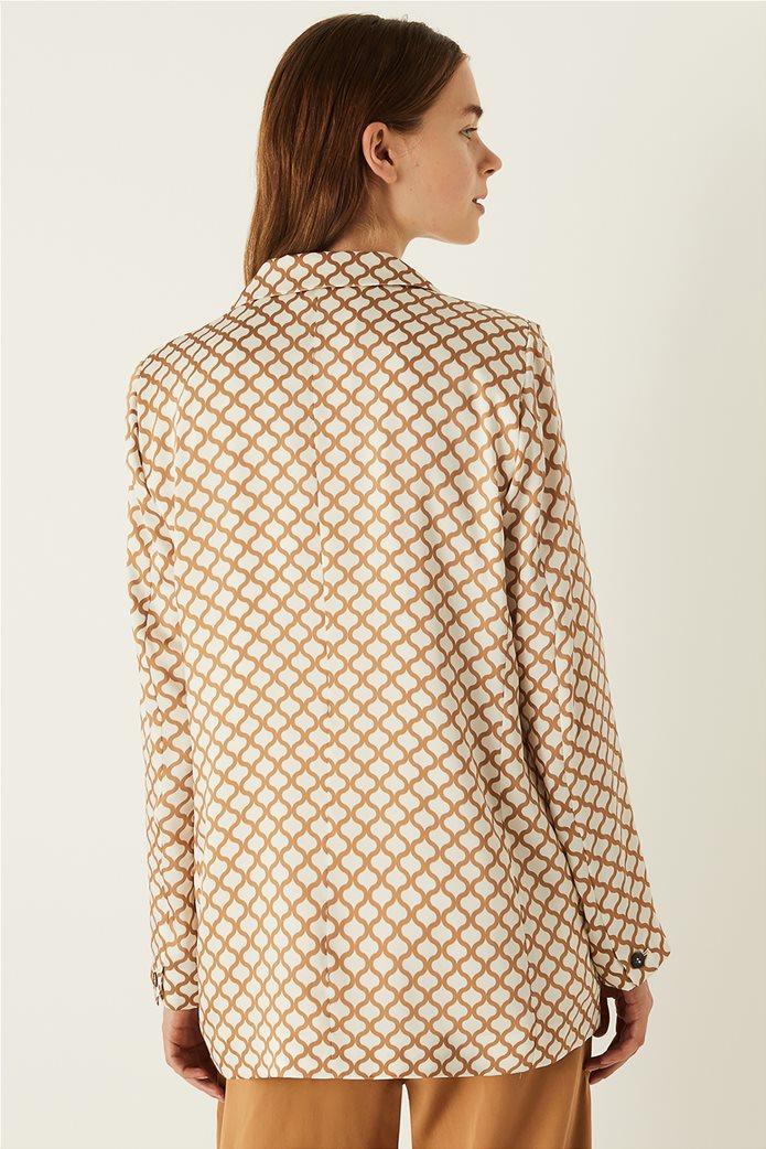 Emme by Marella γυναικείο σακάκι με all-over print 2