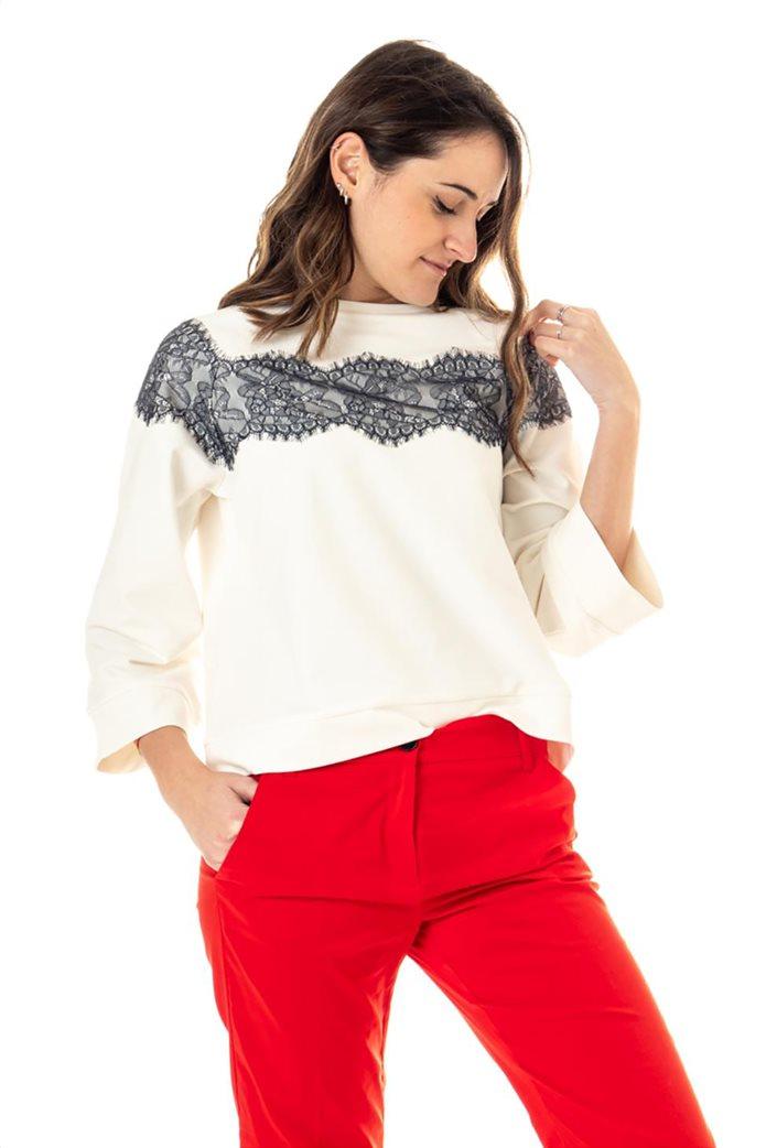 """Emme by Marella γυναικεία μπλούζα φούτερ με διακοσμητικές πέτρες """"Lames"""" 0"""