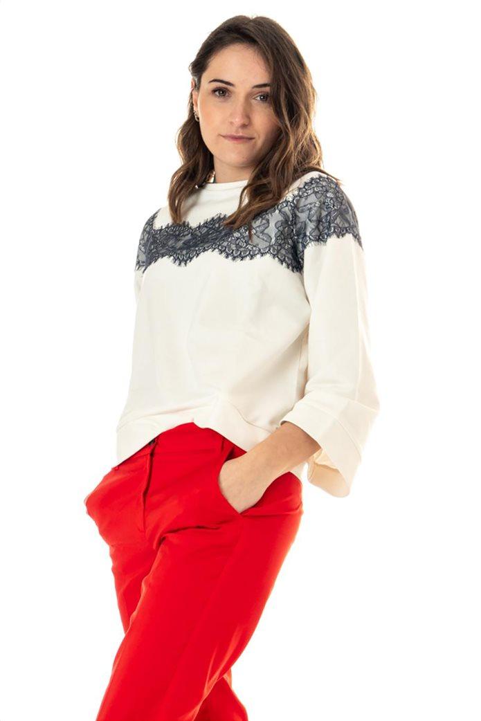 """Emme by Marella γυναικεία μπλούζα φούτερ με διακοσμητικές πέτρες """"Lames"""" 1"""