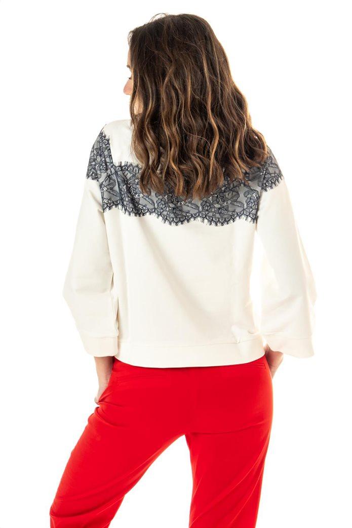"""Emme by Marella γυναικεία μπλούζα φούτερ με διακοσμητικές πέτρες """"Lames"""" 2"""