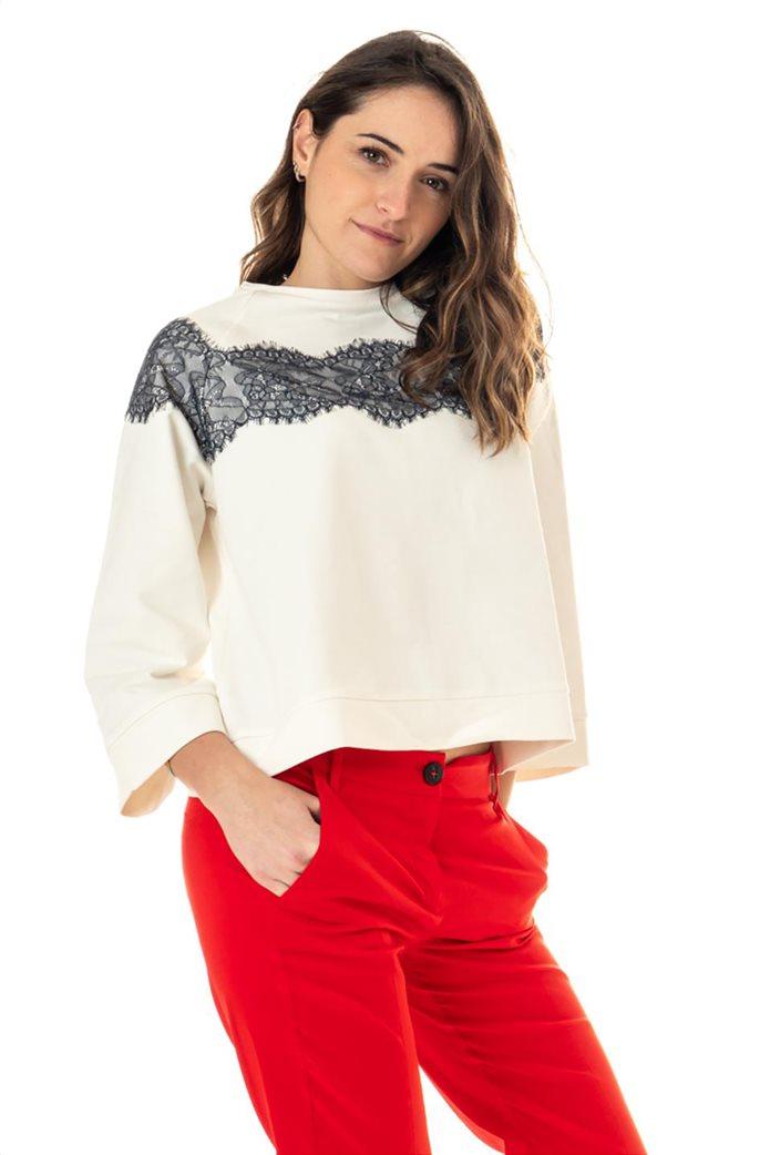 """Emme by Marella γυναικεία μπλούζα φούτερ με διακοσμητικές πέτρες """"Lames"""" 3"""