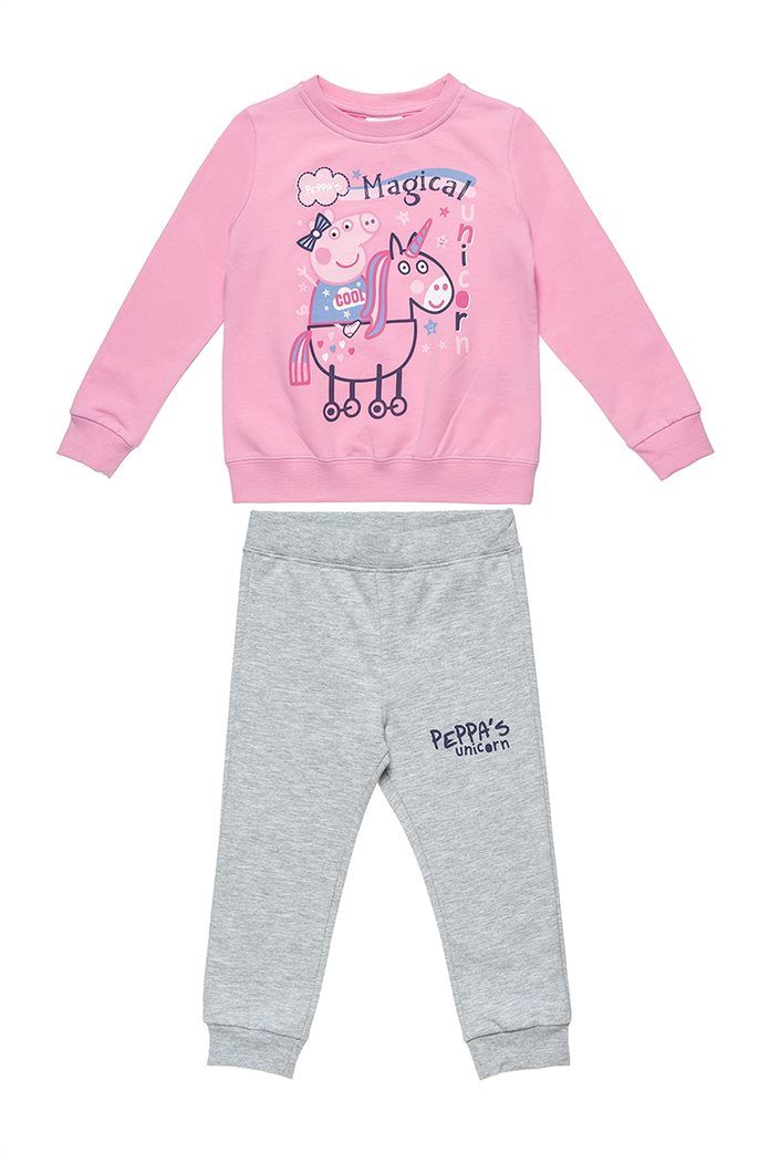 Alouette παιδικό σετ φούτερ με παντελόνι φόρμας με print ''Peppa Pig'' (2-6 ετών) 0