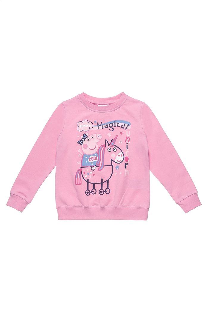 Alouette παιδικό σετ φούτερ με παντελόνι φόρμας με print ''Peppa Pig'' (2-6 ετών) 1