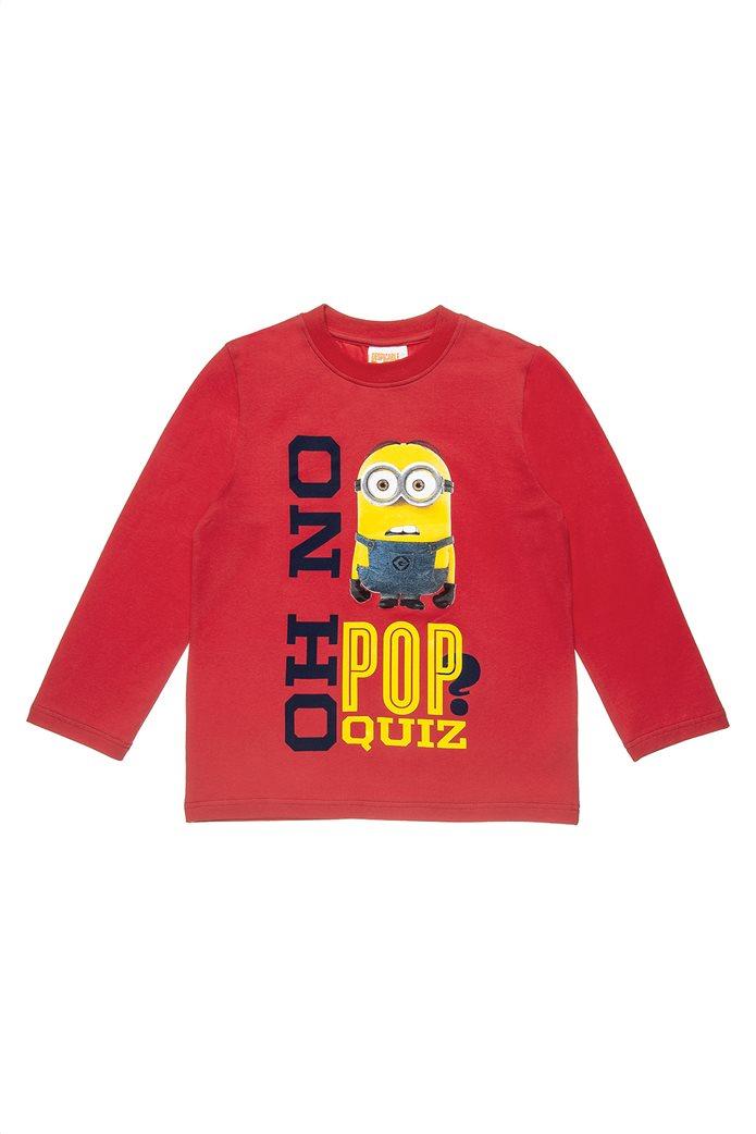 Alouette παιδική μακρυάνικη μπλούζα με print Minions (4-12 ετών) 0