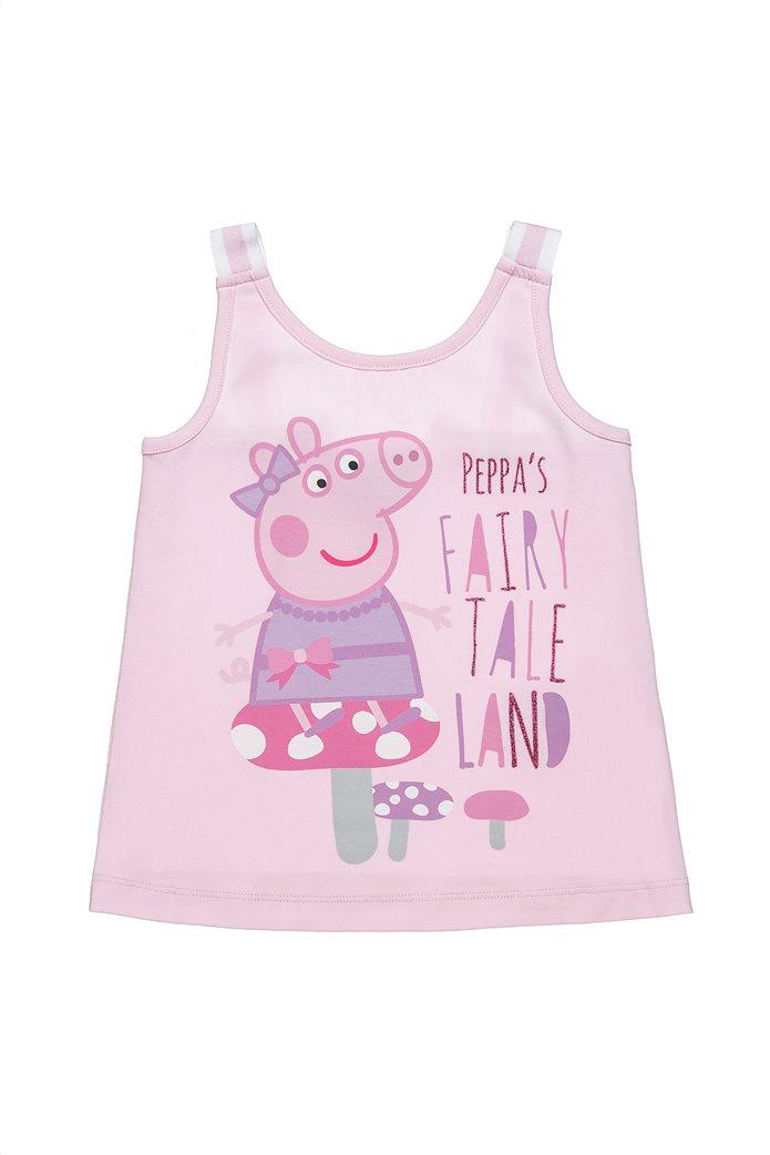 "Alouette παιδική μπλούζα αμάνικη με print και glitter ""Peppa Pig"" (2-5 ετών) 0"