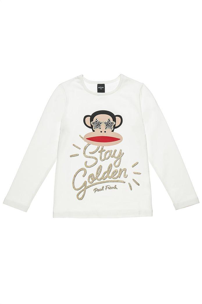 """Alouette παιδική μπλούζα με print """"Paul Frank"""" (6-14ετών) Εκρού 0"""
