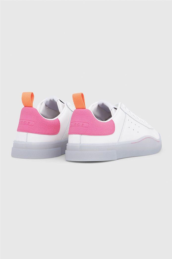 7134cf4da33 DIESEL | Diesel γυναικεία sneakers με κορδόνια S Clever Low Λευκό ...