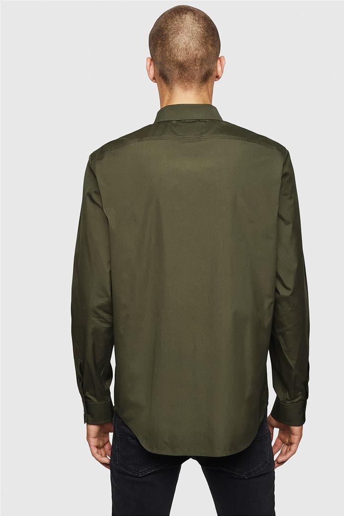 Diesel ανδρικό μονόχρωμο πουκάμισο S-Bill 3
