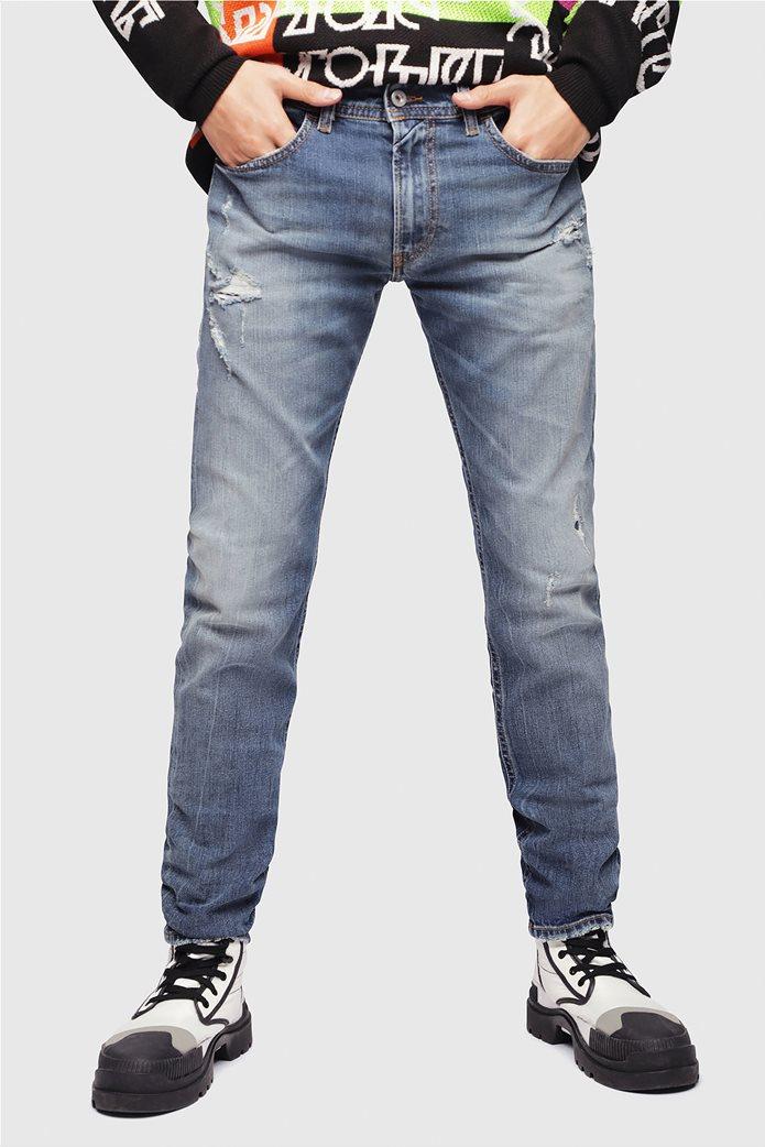 Diesel ανδρικό τζην παντελόνι με φθορές Thommer (32L) 1